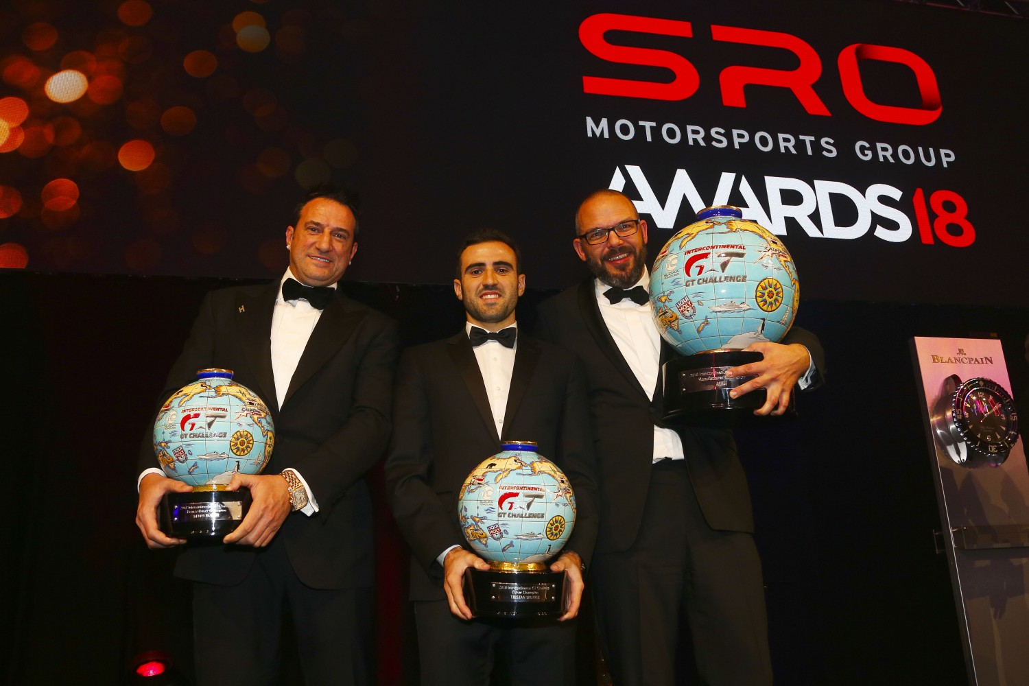 2018 Intercontinental GT Challenge champions receive unique trophies at SRO Awards