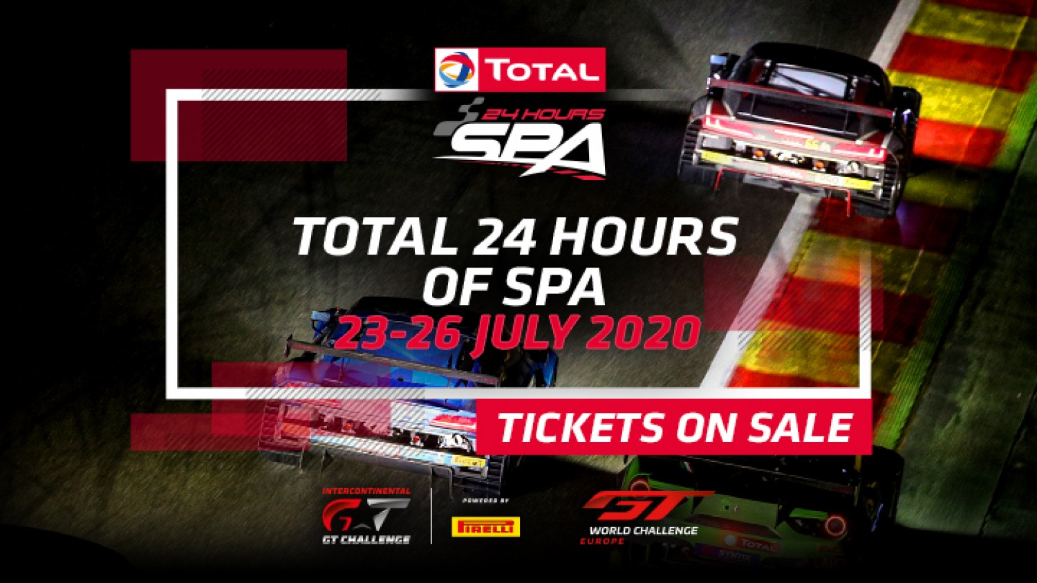 Tickets now on sale for 2020 Total 24 Hours of Spa