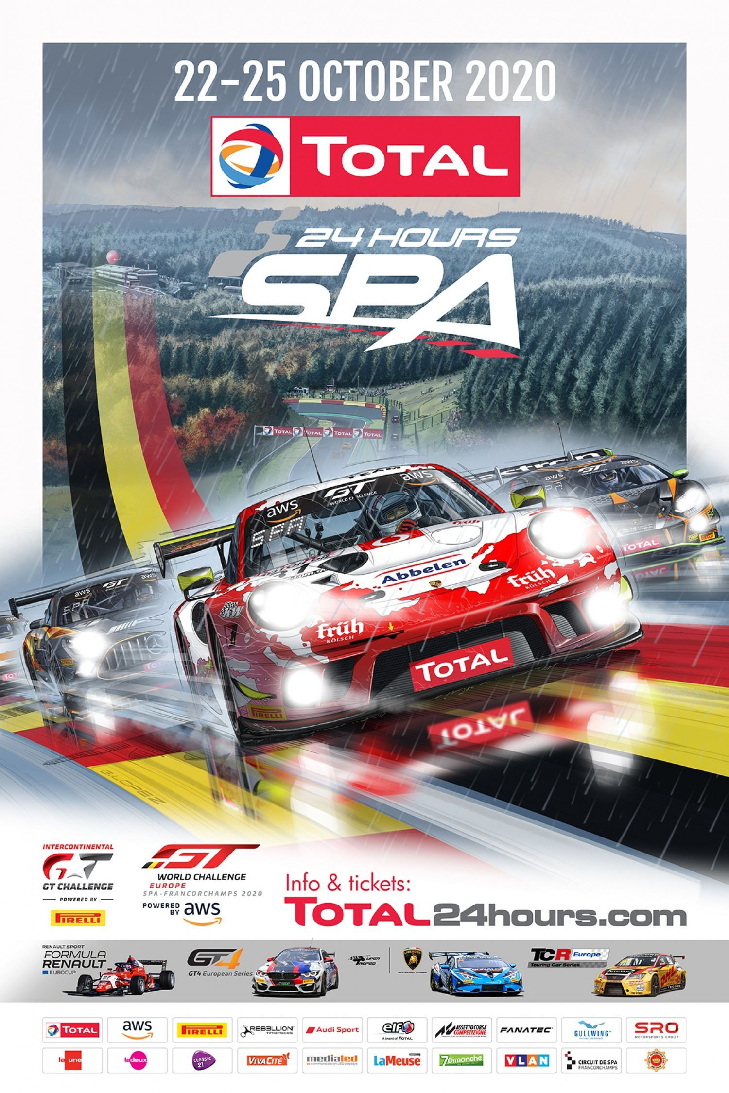New Total 24 Hours of Spa poster marks 50-day countdown to Belgian endurance classic