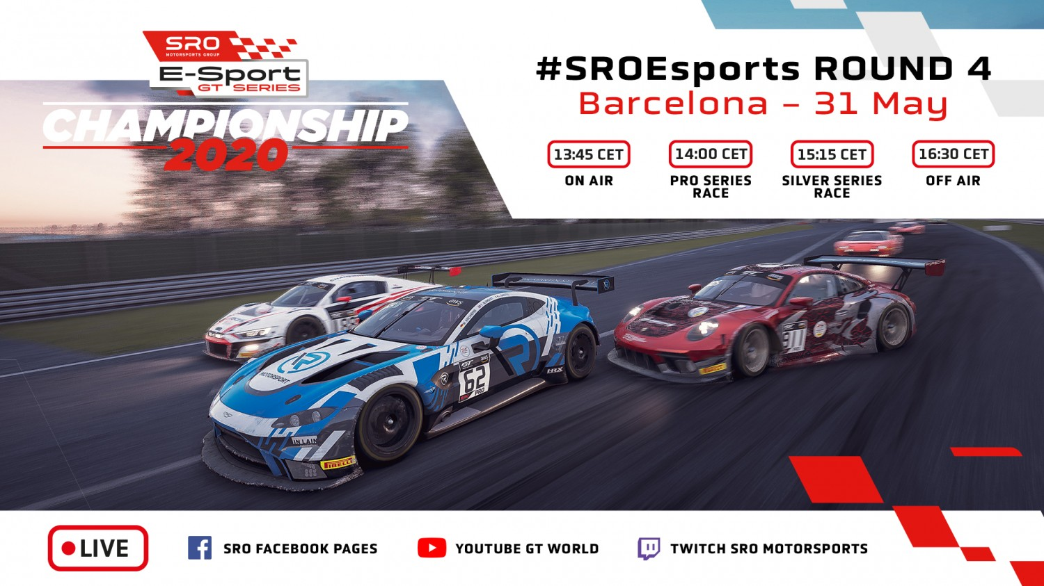 Action-packed weekend in store as SRO E-Sport GT Series enters crucial phase