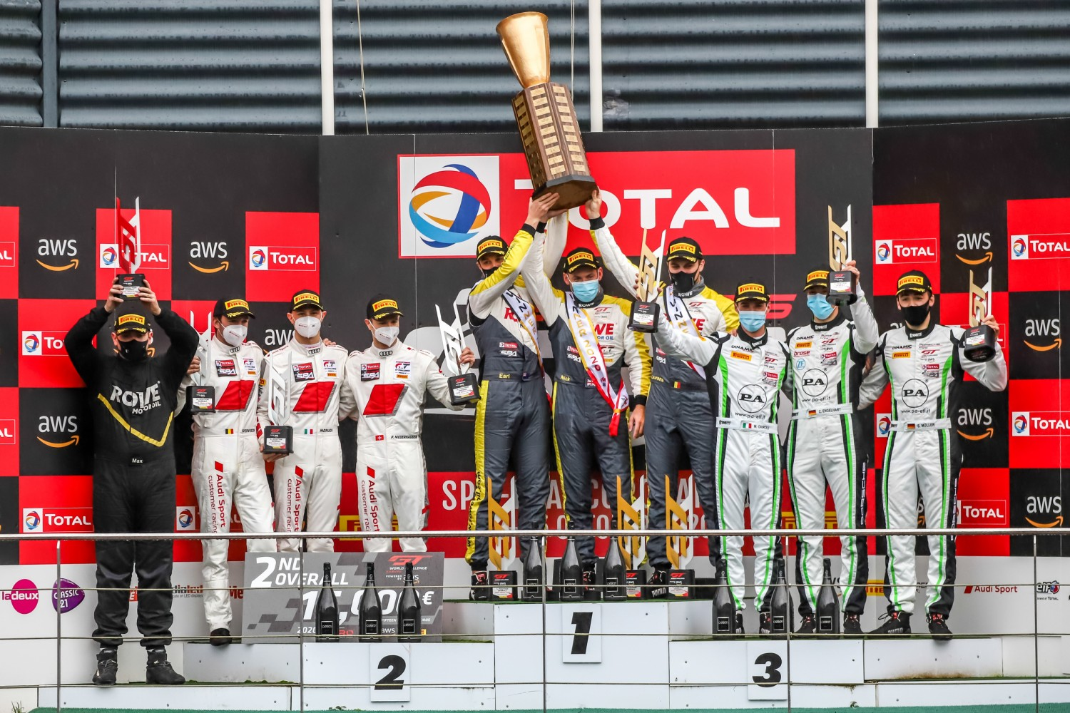 ROWE Racing survive late scare to secure Total 24 Hours of Spa victory for Porsche