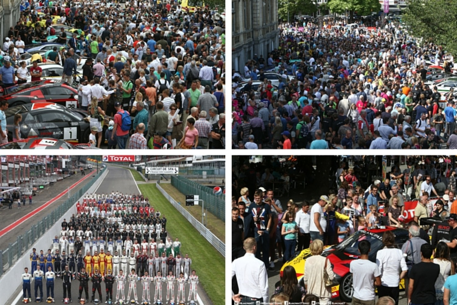 Thousands of fans gather for Total 24 Hours of Spa Parade